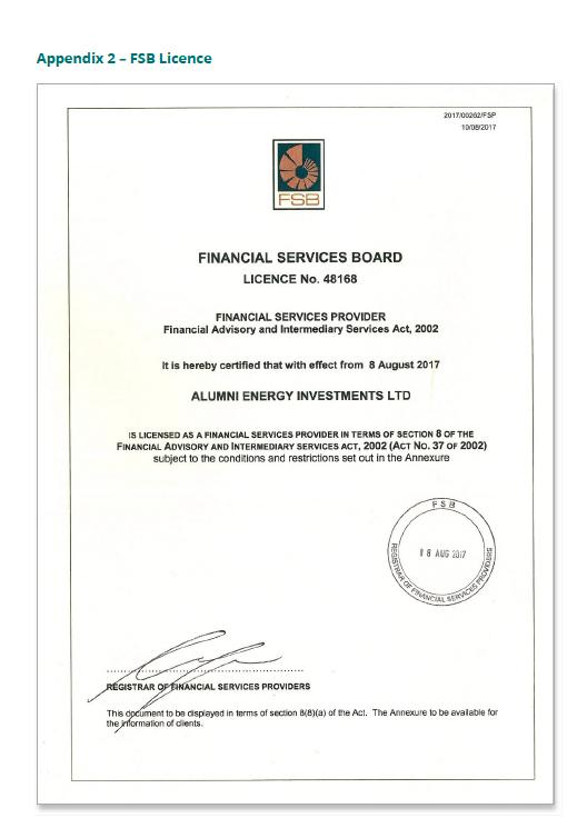 FSB Licence